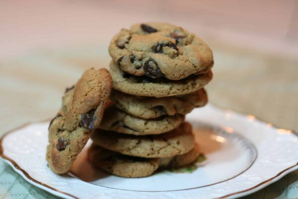 Healthier whole wheat chocolate chip cookies recipe with King Arthur flour