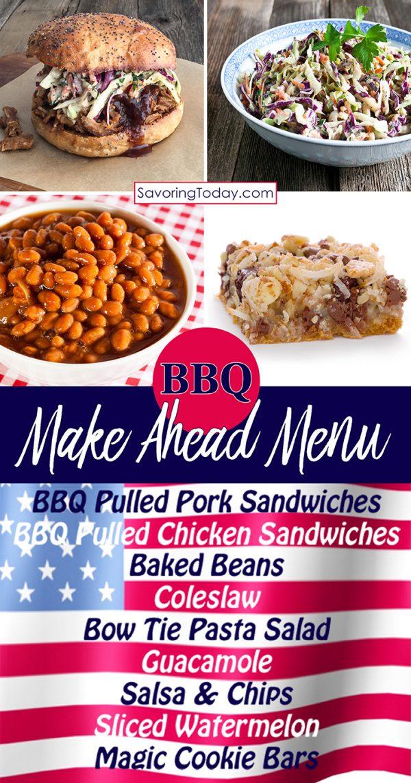 A collage of bbq menu ideas.