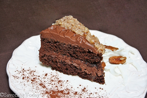 German Chocolate & Buttercream Frosted Cake [Ghirardelli Grand Fudge] | Savoring Today