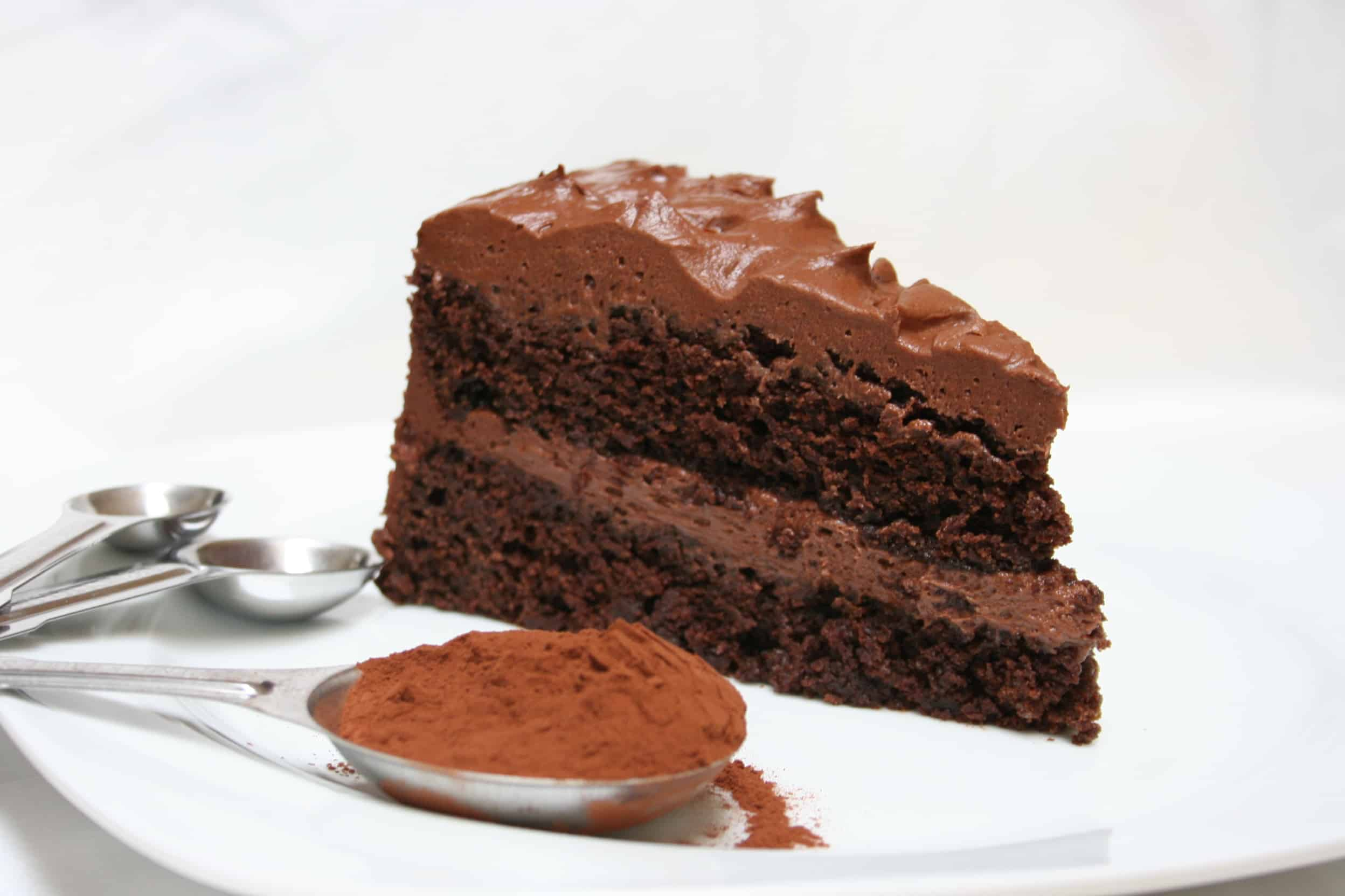 Ghrirardelli Grand Fudge Cake with Chocolate Buttercream Frosting | Savoring Today