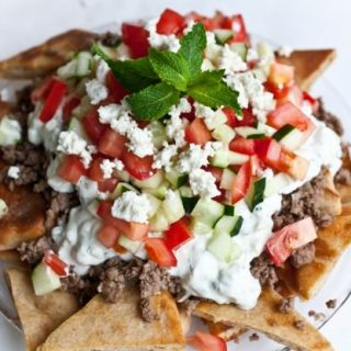 Greek Nachos [via Not Without Salt]: Feature Fridays
