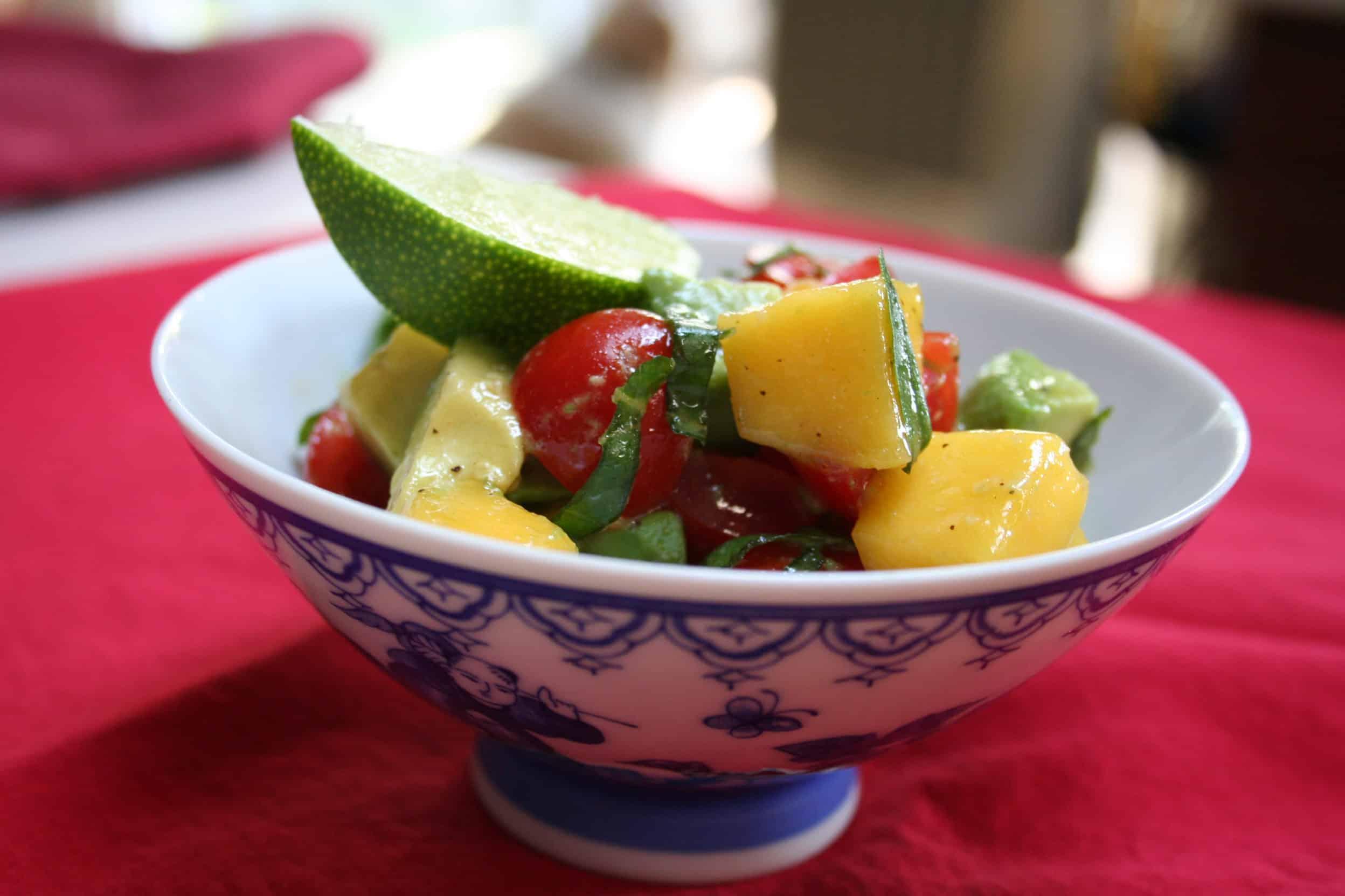 Grilled Halibut with Mango-Avocado Salsa: Test Kitchen ...