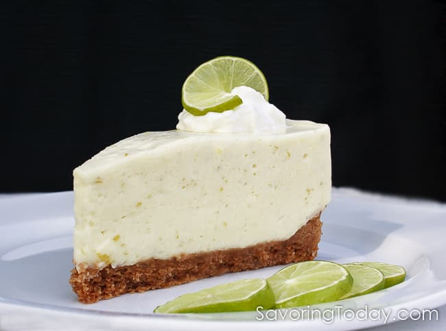 So refreshing and light, this no-bake key lime cheesecake recipe is dreamy and delicious for holiday gatherings and special occasions. We love the tangy cheesecake filling and thick crust.