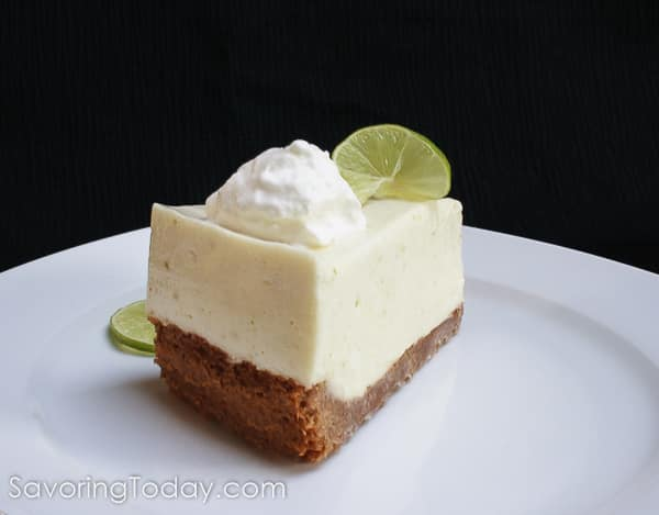 An exquisite no-bake Key Lime Cheesecake Recipe is a refreshing make-ahead dessert for any celebration.
