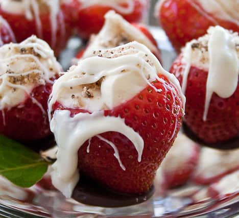Easy and elegant cheesecake strawberries for any special occasion.