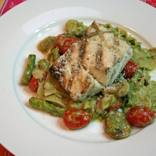 Grilled Sea Scallops With Pasta Rags and Homemade Pesto: Test Kitchen Tuesday