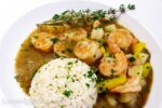 Emeril's Cajun Shrimp Stew Recipe made with savory shrimp stock in Louisiana tradition.