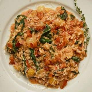 "Emeril's ""BLT"" Risotto: Making Skillets Sizzle"