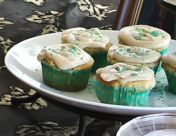 Lemon Poppy Seed Cupcake Recipe with Cream Cheese Frosting for baby or bridal showers.
