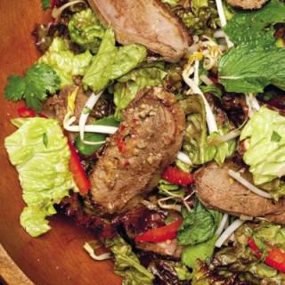 Emeril's Wok-Seared Duck Salad Recipe: Romantic Sizzling Skillets