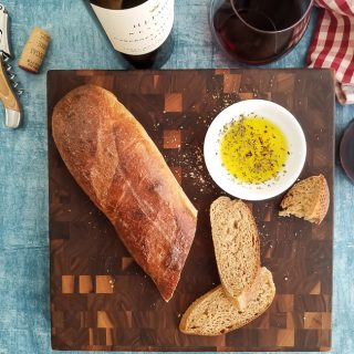 Sprouted Wheat French Bread makes an excellent companion for wine and cheese.