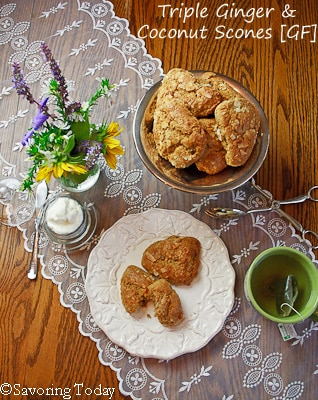 Triple Ginger Coconut Scone Recipe for easy party treats.