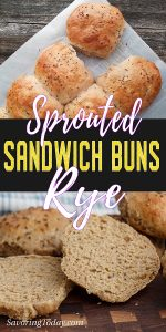 Sprouted Rye Buns sliced