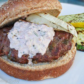 Roasted Green Chili Burgers: Cinco de Mayo & National Burger Month
