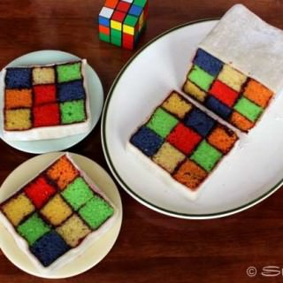 Rubik's Cube Cake: Feature Fridays