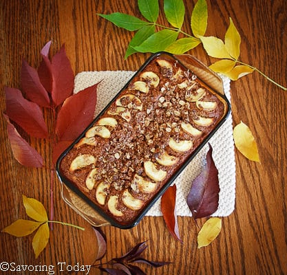 Sprouted Whole Wheat Apple Walnut Bread make no-guilt baking possible.
