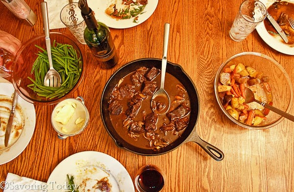 Beef Pot Roast served in a cast iron skillet is the ultimate family dinner.