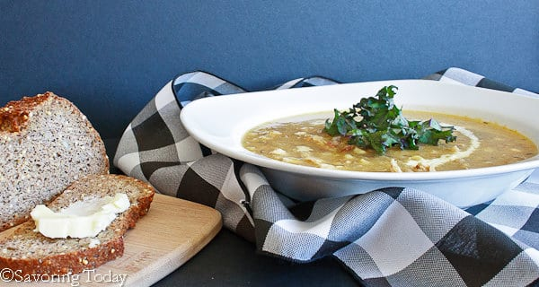 Helen's Chicken Soup - Served