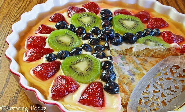 Cream Cheese Fruit Tart with Almond Crust Recipe [Gluten and Grain-Free]