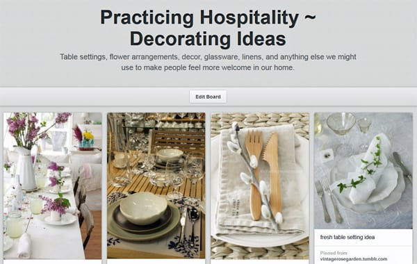 Practicing Hospitality - Decorating Ideas on Pinterest