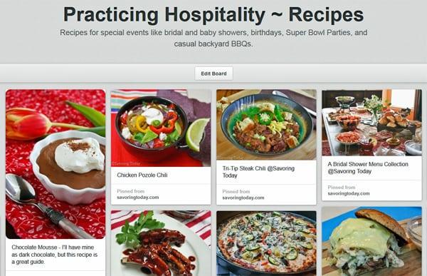 Practicing Hospitality - Recipes