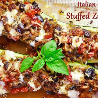 Italian-Style Stuffed Zucchini