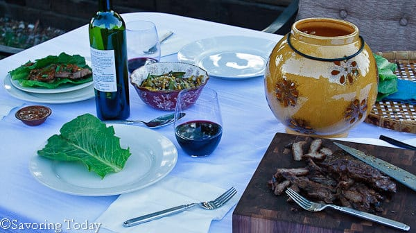 Korean Barbecue Skirt Steak [outside dining] | Savoring Today