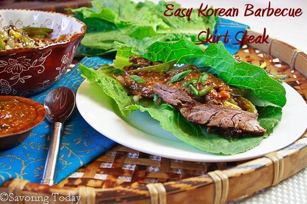 Korean Barbecue Skirt Steak [served] | Savoring Today