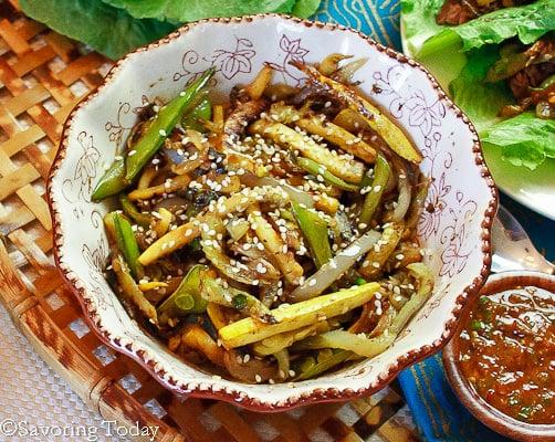 Korean Barbecue Skirt Steak [vegetables] | Savoring Today