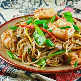 Shrimp Lo Mein with Gluten-Free Options