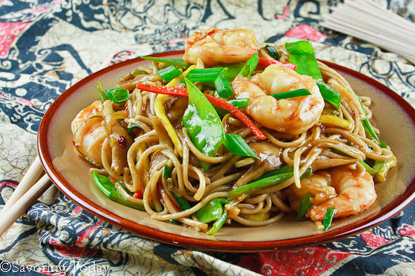 A delicious gluten-free Shrimp Lo Mein recipe the whole family will love. Low-carb and gluten-free options included.