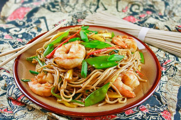 Shrimp Lo Mein is an easy weeknight, one-pot dinner. Recipe includes gluten-free options.