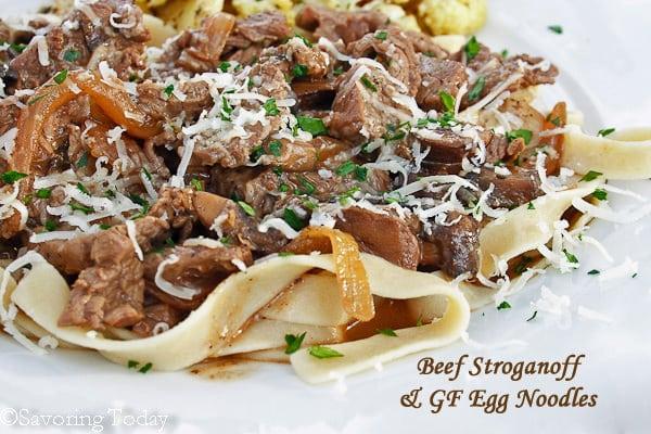 Beef Stroganoff | Savoring Today