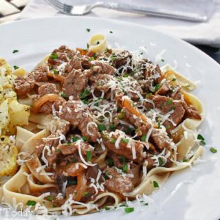 Beef Stroganoff with Jovial Gluten-Free Egg Pasta
