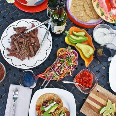 Take tacos to a whole new level with these grilled skirt steak recipes. Easy enough for family dinners and festive for entertaining.