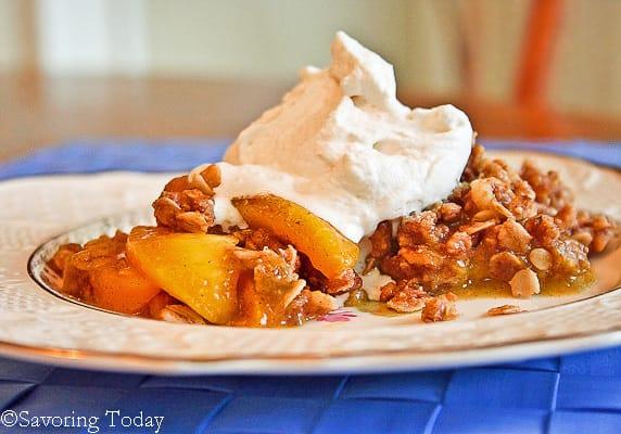 Peach Vanilla Bean Crisp - Savoring Today (1 of 1)