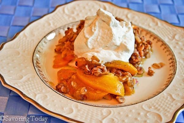 Peach Vanilla Bean Crisp - Served - Savoring Today (1 of 1)