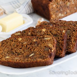 Sprouted Zucchini Bread: Whole Wheat, More Zucchini, Bits of Ginger