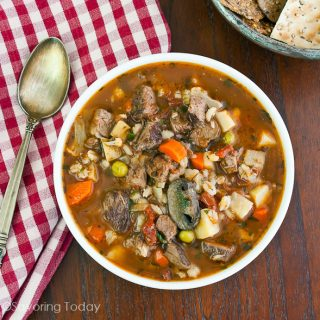 Easily make roast beef & vegetable soup from leftovers with these measurements.
