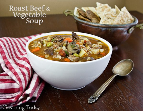 Roast Beef & Vegetable Soup from Beef Pot Roast Leftovers