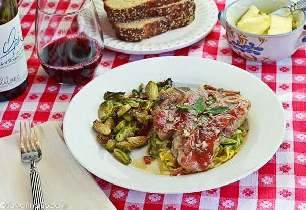 Veal Chops Saltimbocca at the table- Savoring Today (1 of 1)