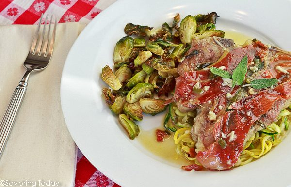 Veal Chops Saltimbocca served - Savoring Today (1 of 1)-2