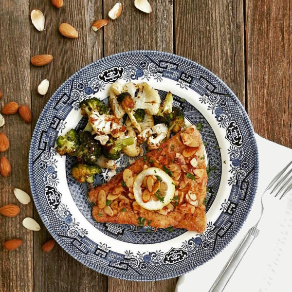 Barramundi w Brown Butter and Almonds is a quick and easy weeknight dinner.