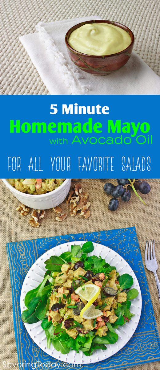 In this easy no-fail 5-minute mayonnaise recipe, the avocado oil brings it all together without any hint of avocado flavor—just the kind of sublime sandwich and salad dressing you want with all the health benefits you need.