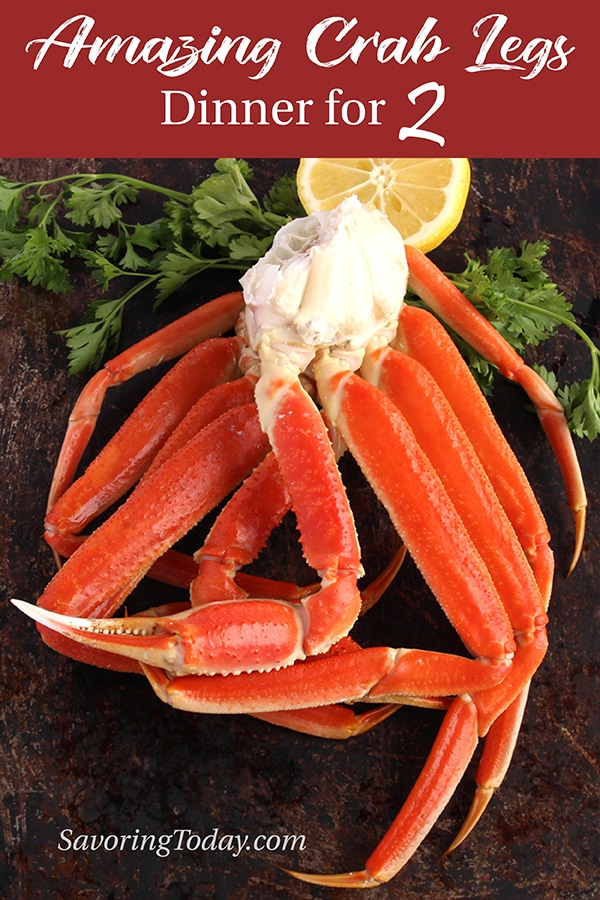 Learn how ridiculously easy it is to make an amazing crab leg dinner at home. We take you through every step so you'll know exactly how to choose quality crab legs, how much to buy, and the absolute best way to cook them.#crab #crablegs #dinnerrecipes #dinnerfortwo #datenight #crabrecipes #savoringtoday