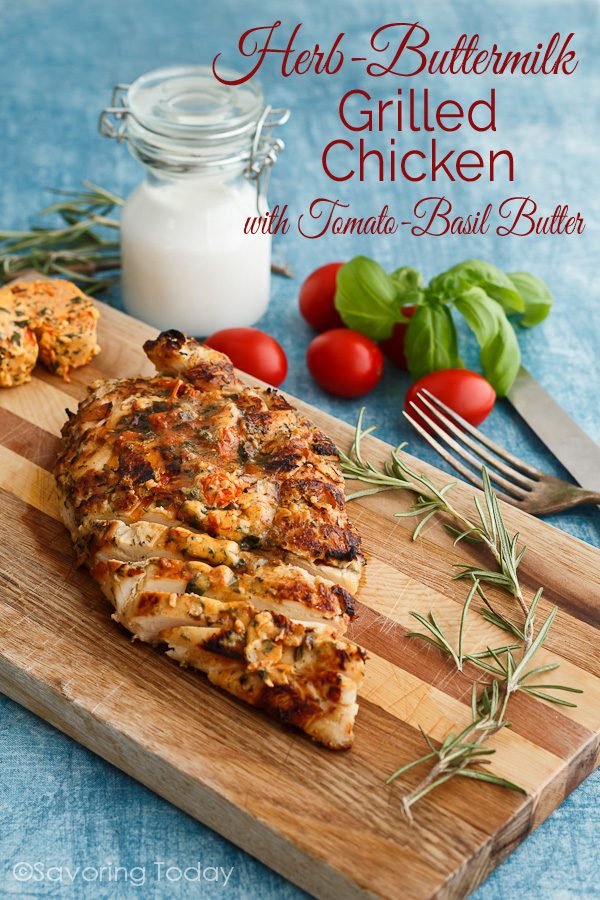 A simple marinade of buttermilk and herbs makes chicken tender and delicious when grilled. Double the recipe for easy make-ahead protein to have on-hand for numerous meal options.