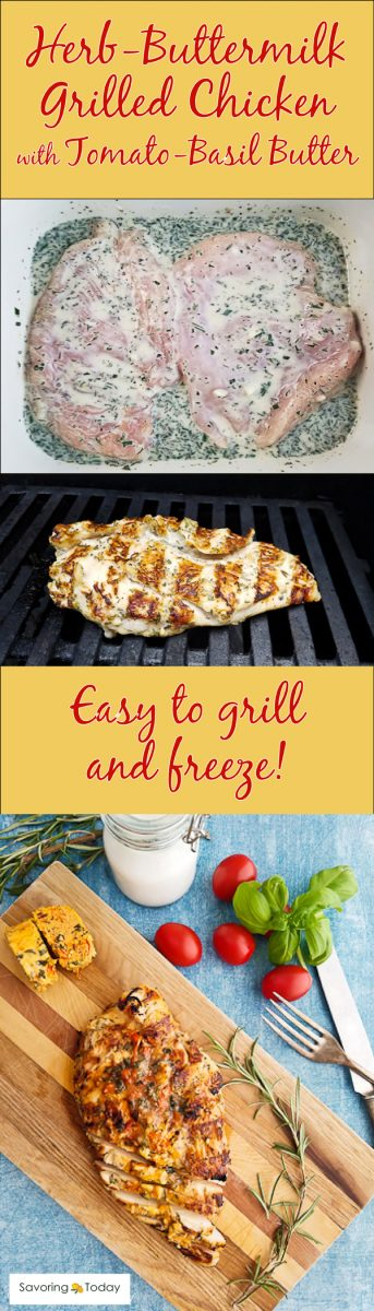 A recipe for fabulous grilled chicken breast that's full of flavor and wonderfully tender. Taste the difference buttermilk makes when grilling chicken.