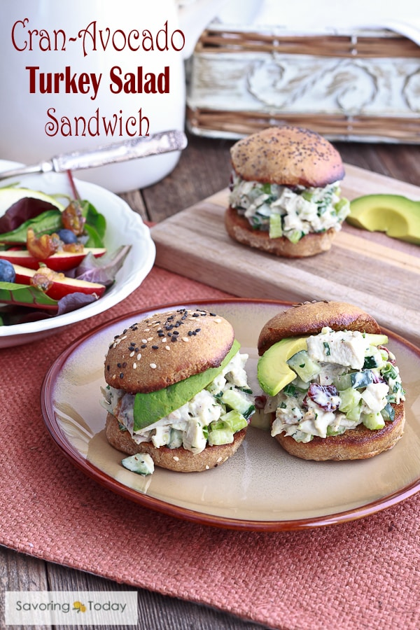Homemade mayo and sprouted wheat buns highlight this healthy recipe for using leftover roast turkey.