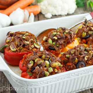 Italian Sausage & Cauliflower Rice Stuffed Peppers: Paleo & Whole30