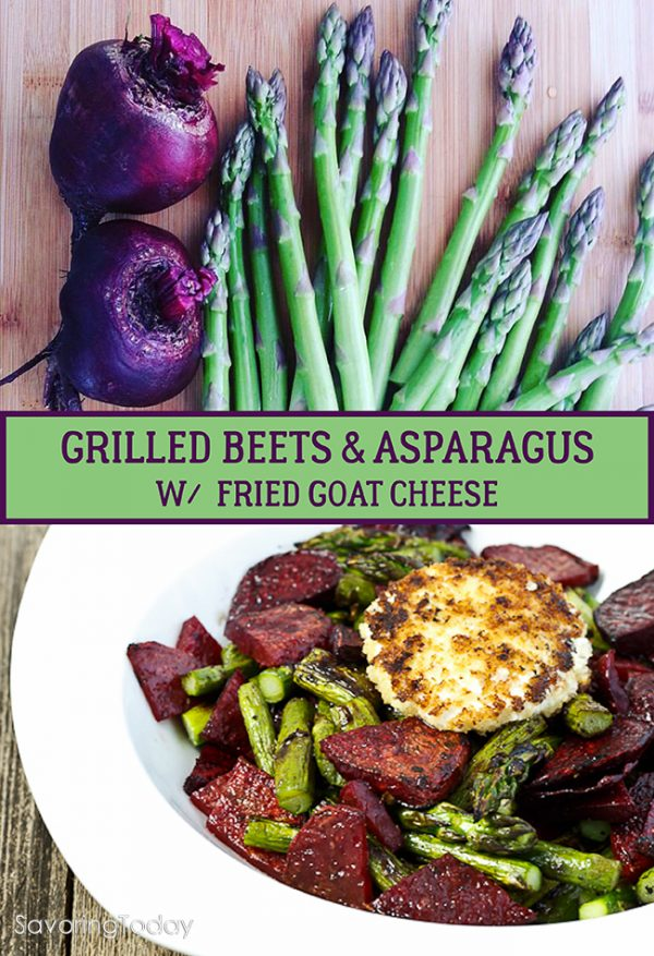 14 Amazing grilling recipes for summer entertaining. A delicious duo of beets and asparagus crowned with fried goat cheese.
